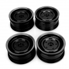 Universal DIY 1:10 Aluminum Alloy Wheel for Model Car - Black (4 PCS)
