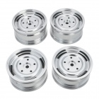 Universal DIY 1:10 Aluminum Alloy Wheel for Model Car - Silver (4 PCS)