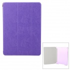 Dragon Pattern PU + Plastic Case w/ Stand / Auto Sleep for IPAD AIR - Purple + Translucent White