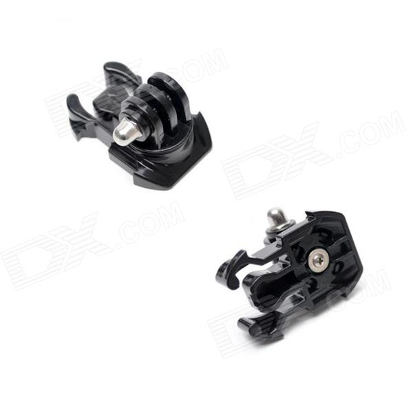 Universal 360 Degree Rotary J-Shape Fast Assembling Mount Buckle for Gopro Hero 4/ 2/3/3+ -Black (2PCS) цена и фото