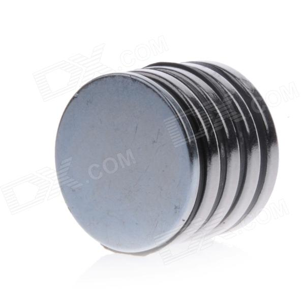 DSC-0530 25 x 2mm Round Hole NdFeB Magnet - Silver (5 PCS) barrow tzs1 a02 yklzs1 t01 g1 4 white black silver gold acrylic water cooling plug coins can be used to twist the