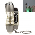 GuangDa 5875 Strong Fire Windproof Butane Jet Lighter w / Green LED Light - Silver + Transparent