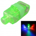 RF-FL1G Green Light LED Flashing Finger Lights Set - Green (5 PCS)