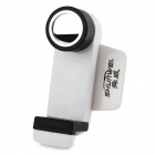 SHUNWEI SD-1108G Car 360 Degrees Rotary Mobile Phone Holder w/ Fixed and Tuyere Clips - White