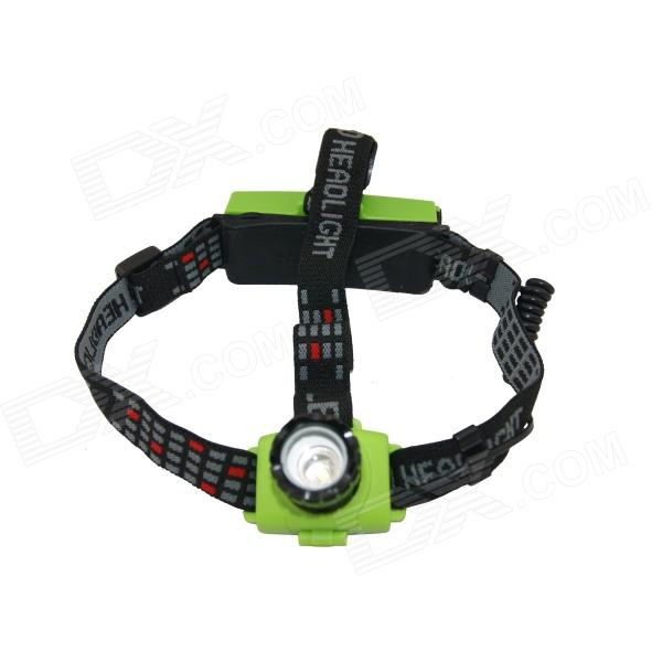 HolyFire HF-002 Outdoor LED 200lm 3-Mode Zooming Focus Head Lamp - Green (1 x 18650)