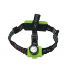 HolyFire HF-002 Outdoor Cree XP-E Q5 200lm 3-Mode Zooming Focus Head Lamp - Green (1 x 18650)