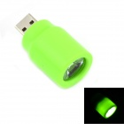 MaiTech Portable Mini USB LED Lamp Holder - Green