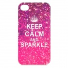Starry Protective TPU Back Case for IPHONE 4S / 4 - White + Red