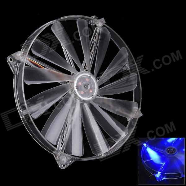 все цены на F100189 WT-003 20cm Double Joint Chassis Fan w/ Blue Light (DC12V)