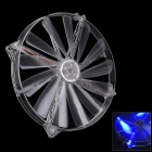 F100189 WT-003 20cm Double Joint Chassis Fan w/ Blue Light (DC12V)