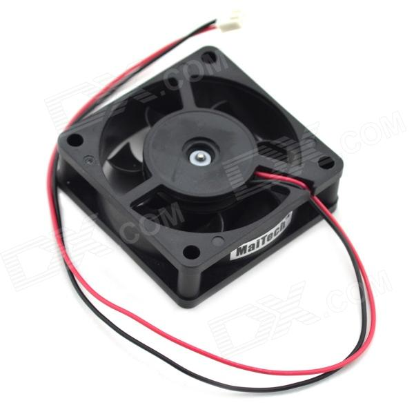MaiTech DC 12V 0.15A 6cm 2 Wire Drive Ball Bearing Cooling Fan - Black original delta afb0912shf 9032 9cm 12v 0 90a dual ball bearing cooling fan page 5