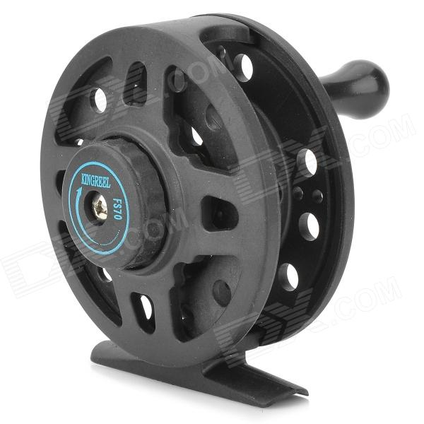 4/3 Convenient Single Way Revolving Rotating Fishing Thread Reel - Black + Silver
