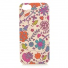 Birds & Flowers Pattern TPU Back Case for IPHONE 5 / 5S - Red + Purple