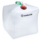 HARLEM HL-956 Convenient Folding Outdoor PVC Pail Bucket - Translucent White + Green (10L)