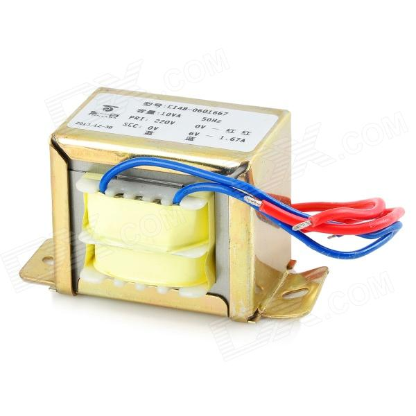 10VA 50Hz 220V to 6V 1.67A Transformer 5va 50hz 220v to 12v 417ma transformer golden yellow cable length 10cm
