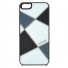 Sokad Sokad-ES04 Grid Pattern Protective  PC + ABS Back Case for IPHONE 5 /5S - Black + White
