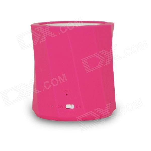 D97B Wireless Bluetooth Speaker Ultra-Portable Stereo Audio w/ 3.5mm Aux-In, TF Card, Mic -Deep Pink original xiaomi mi bluetooth speaker wireless stereo mini portable mp3 player pocket audio support handsfree tf card
