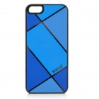 Sokad Sokad-ES08 Stylish Grid Pattern PC + ABS Back Case for IPHONE 5 / 5S - Blue