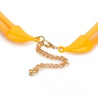 SHIYING a06216 Triangle Tassel Style Necklace for Women - Orange Yellow