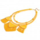 SHIYING a06216 Triangle Tassel Style collier pour femme - Orange-jaune