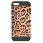 MOTOMO K06 Leopard Pattern PC + ABS Back Case for IPHONE 5 / 5S - Black Leopard