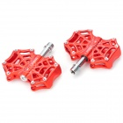 A-01 Cobweb Style Cycling Aluminum Alloy Bike Pedals - Red