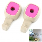 Plastic Car Vehicle Hook - Pink + Beige (2 PCS)