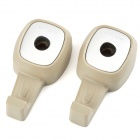 Car Vehicle Plastic Hooks - Khaki + Silver (2 PCS)