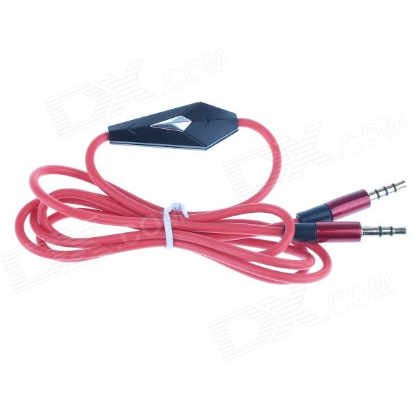 3.5mm Male to Male Audio Cable w/ Microphone - Red (125cm) touchstone teacher s edition 4 with audio cd