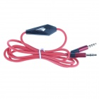 3.5mm Male to Male Audio Cable w/ Microphone - Red (125cm)