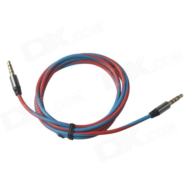 3.5mm Male to Male Extension Audio Cable - Red + Black (120cm)