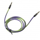 3.5mm Male to Male Extension Audio Cable - Green + Purple (120cm)