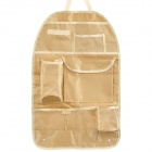 R-168 Car Seat Back Pocket-Storage Organizer Bag - Dark Yellow
