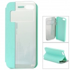 HELLO DEERE Protective Flip Open PU Case w/ Stand for IPHONE 5S - Light Green