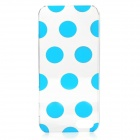 Polka Dot Style Protective Plastic Back Case for IPHONE 5 / 5S - Blue + Transparent