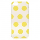 Dot Style Protective Plastic Back Case for IPHONE 5 / 5S - Yellow + Transparent