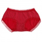 DCGIRL 21631 Polka Dot Pattern Lace Underwear for Women - Red