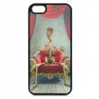 Skeleton Pattern Protective PC Back Case for IPHONE 5 / 5S - Black + Red