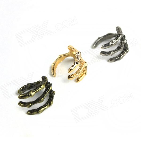 Claw of Dragon Style Rings - Golden + Bronze (3 PCS) claw of dragon style rings golden bronze 3 pcs