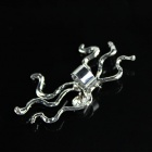 Octopus Style Ear Clips - Silver (2 PCS)