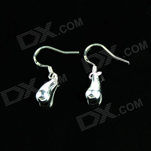 Water Drop Style Women's Earrings - Silver (Pair)
