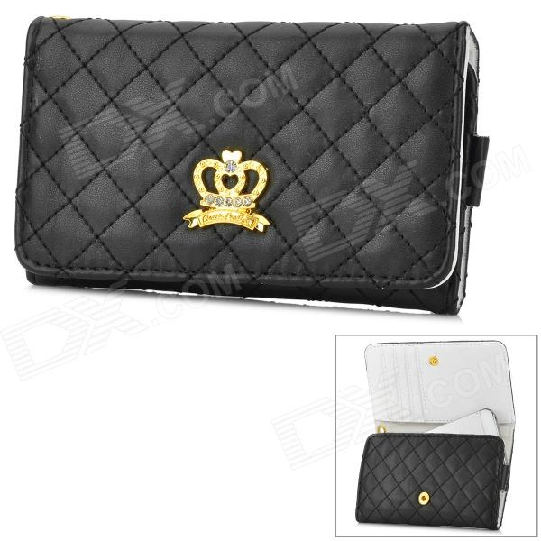 Protective PU Case / Wallet for IPHONE3G / 3GS / 4 / 4S / 5 / 5S / 5C - Black