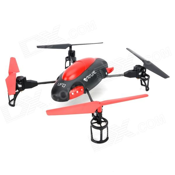 YD YD-719 Rechargeable 4-Channel 4-Axis R/C Aircraft w/ Gyro / Remote Controller - Red + Black