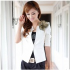 Fashionable Office Lady Women's Coat  - White (Size L)
