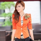 Fashionable Office Lady Women's Coat  - Orange (Size M)