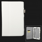 Protective PU Flip Open Case w/ Stand / Card Slots for 8'' Lenovo miix2 - White