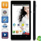 "Mpie MP-M3+ SC6820 Android 4.1.1 GSM Bar Phone w/ 4.7"", FM, Quad-band, Wi-Fi, Dual camera - Black"