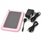 "K72 7 ""enfants 4.22 Android Tablet PC w / 8GB ROM, 512 Mo de RAM, double caméra - rose + blanc"