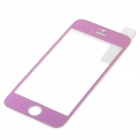 0.3mm Ultra-thin Protective Tempered Glass Guard Film for IPHONE 5 / 5S - Transparent + Purple