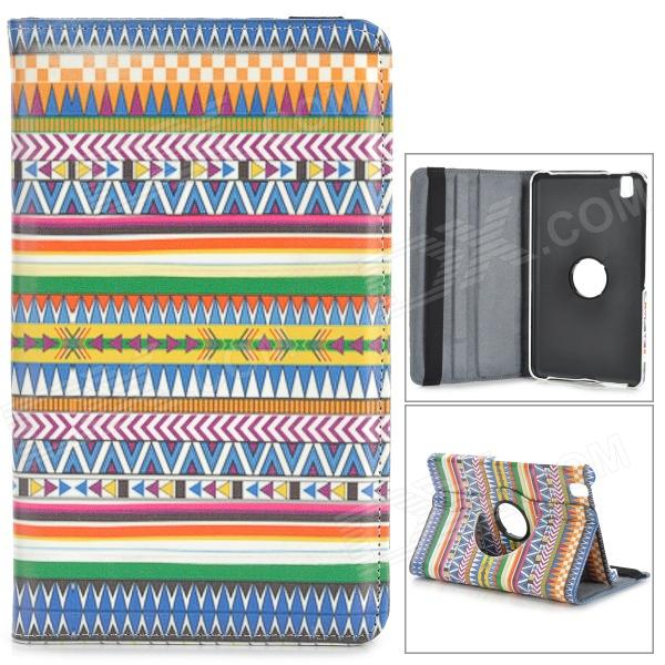 Tribal Pattern Flip-open PU Case w/ Holder + 360' Rotating Back for Samsung Galaxy Tab Pro 8.4 T320 stylish flower pattern flip open pu leather case w holder 360 rotating back for ipad 2 3 4